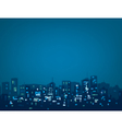 blue night city vector image