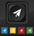 Paper airplane icon symbol Set of five colorful vector image