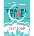 banner for travel agencies vector image vector image