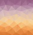 purple orange gradient abstract polygon triangular vector image