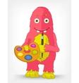 Funny Monster Artist vector image