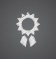 achievement sketch logo doodle icon vector image