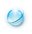 Blue glossy abstract globe vector image