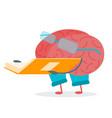 cartoon brain activity vector image