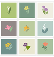 Flower logo templates set vector image