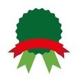medal emblem ribbon icon vector image
