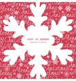 merry christmas text snowflake silhouette pattern vector image
