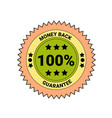 money back guarantee badge isolated icon business vector image
