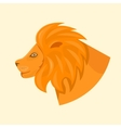 Lions head side view vector image