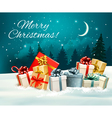 Holiday Christmas greeting card with a colorful vector image