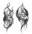 Lizard tattoo vector image vector image
