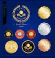 Set of tennis badge label or emblem for sport vector image