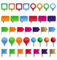 collection with pins and marks vector image vector image