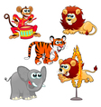Funny circus animals vector image vector image