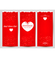 Set od greeting cards for Valentines Day vector image