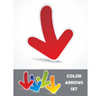 Colorful banner set Realistick stickers vector image
