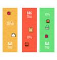 bag shop vertical flyers set vector image