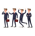 businessman isolatede suit elegant happy vector image
