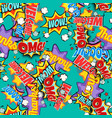 comic book words pop art background seamless vector image