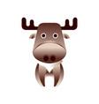 cute brown deer stylized geometric animal low vector image