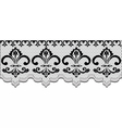 Lace pattern with classic floral ornaments vector image