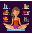 yoga logo design template sport fitness vector image