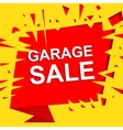 Big sale poster with GARAGE SALE text Advertising vector image