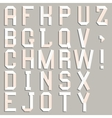 Alphabet cut out of paper vector image vector image