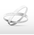 Two white rings vector image