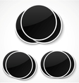 Empty round photo frames vector image vector image