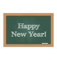 Happy new year message on chalkboard vector image vector image