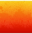 Colorful red orange and yellow paint splashes vector image