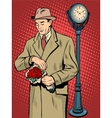 Dating love time watch man vector image