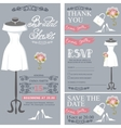 Bridal shower invitation cardsWedding Dress vector image