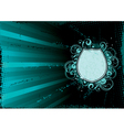 turquoise abstract background vector image