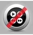 gray chrome button - no four music control buttons vector image