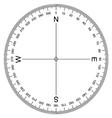 Compass Protractor vector image