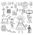 Hand drawn cinema vector image