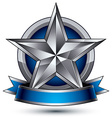 Heraldic template with five-pointed silver star vector image