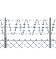 Highly detailed prison or refugee camp fence vector image
