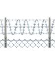 Highly detailed prison or refugee camp fence vector image