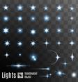 Set of stars shining vector image