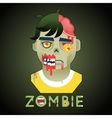 Halloween Party Zombie Role Character Bust Icons vector image