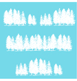Three borders made of pine trees vector image