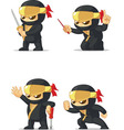 Ninja Customizable Mascot 16 vector image vector image