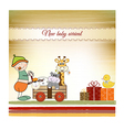first birthday card vector image