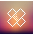 Adhesive bandage thin line icon vector image