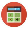 Flat Education and Maths Calculator Circle Icon vector image