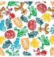 Seamless mayan and aztec pattern of animal totems vector image