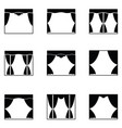 curtain icon set vector image
